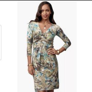 CAbi Gallery Paint Print Jersey Dress